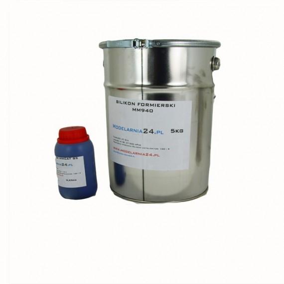 Silikon MM940 (twardszy) 5 kg + katalizator 250g