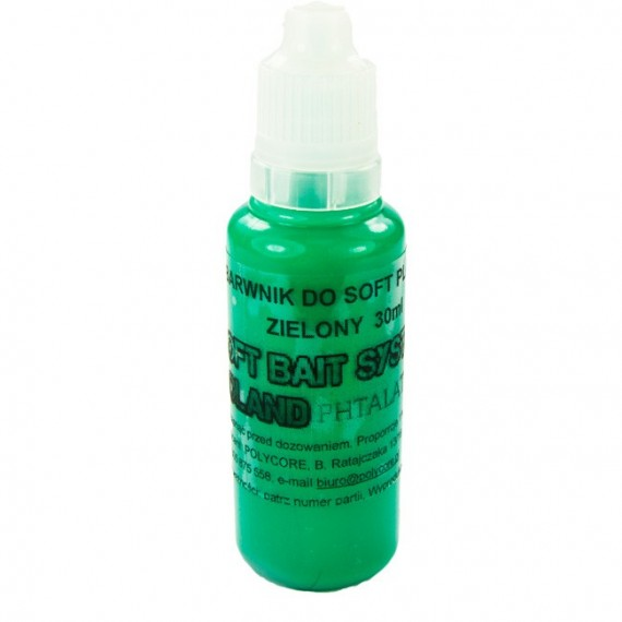 Barwnik Zielony do Soft Plastic 30ml