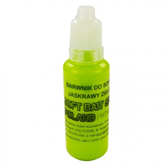 Barwnik Zielony Jaskrawy do Soft Plastic 30ml
