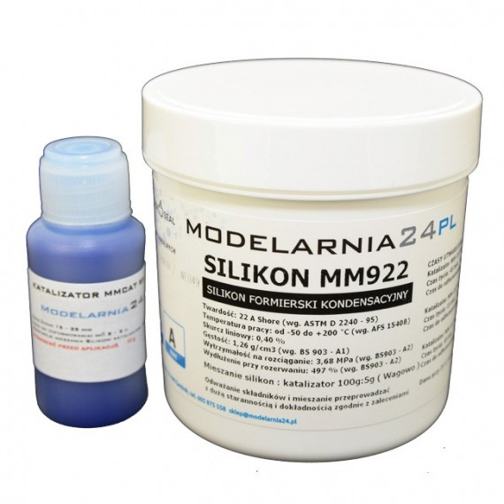 Silikon MM922 (standardowy) 0,25 kg + katalizator 13g