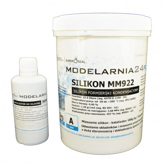 Silikon MM922 (standardowy) 1,0 kg + katalizator 50g