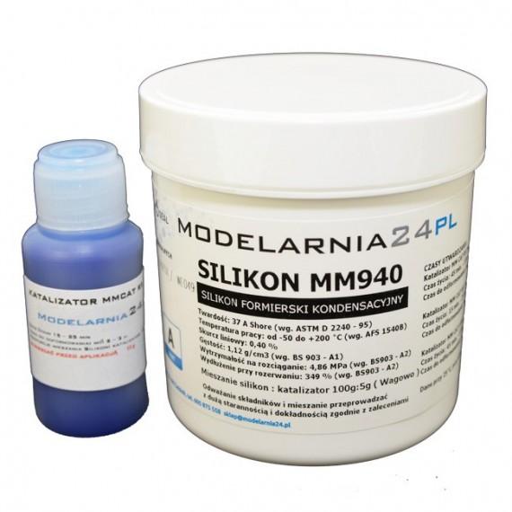 Silikon MM940 (twardszy) 0,25 kg + katalizator 13g