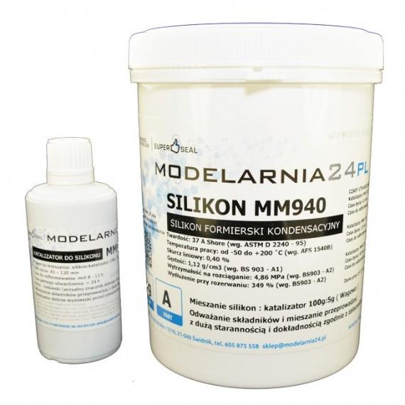 Silikon MM940 (twardszy) 1 kg + katalizator 50g